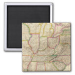 United States of America 3 2 Inch Square Magnet