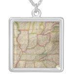 United States of America 3 Square Pendant Necklace
