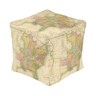 United States of America 4 2 Cube Pouf