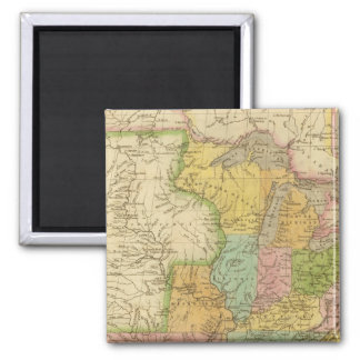United States of America 4 2 Inch Square Magnet