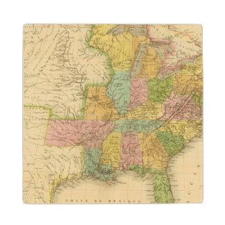 United States of America 4 2 Maple Wood Coaster