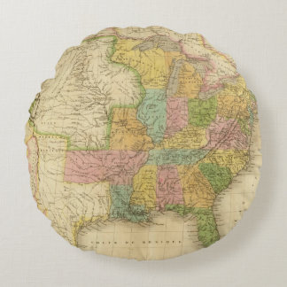 United States of America 4 2 Round Pillow