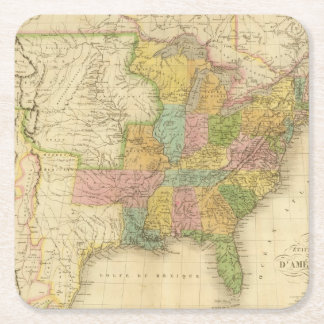 United States of America 4 2 Square Paper Coaster