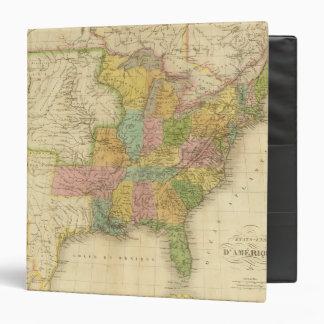 United States of America 4 3 Ring Binder