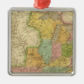 United States of America 4 Christmas Ornaments