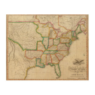 United States of America 4 Wood Wall Art