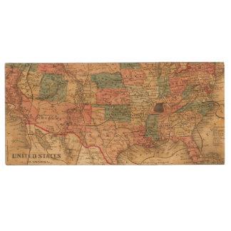United States of America 8 Wood USB 2.0 Flash Drive