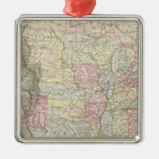 United States of America 8 Square Metal Christmas Ornament