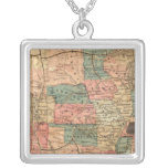 United States of America 8 Square Pendant Necklace