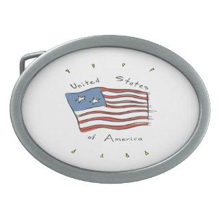 United States Of America Belt Buckles