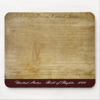 United States of America Bill of Rights Mousepad