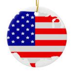 United States of America Ceramic Ornament