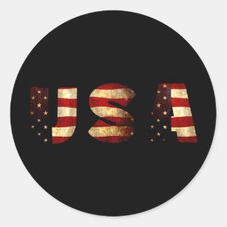 United States of America Classic Round Sticker