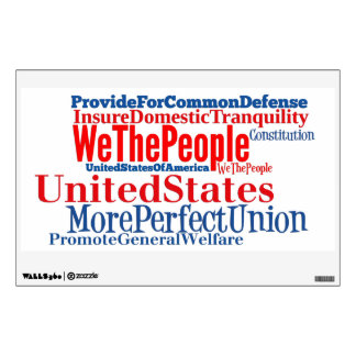 United States of America Constitution Wall Decal
