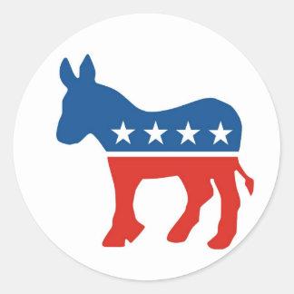 united states of america democrat party donkey usa classic round sticker