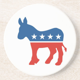 united states of america democrat party donkey usa beverage coasters