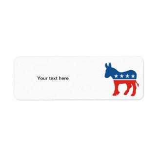 united states of america democrat party donkey usa custom return address label