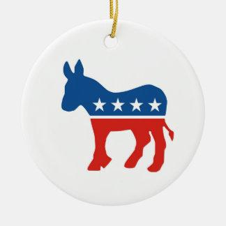 united states of america democrat party donkey usa christmas tree ornament