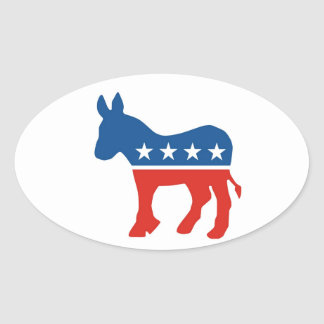 united states of america democrat party donkey usa oval sticker
