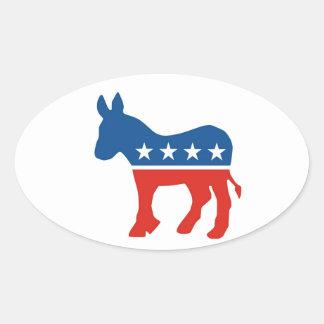 united states of america democrat party donkey usa oval sticker