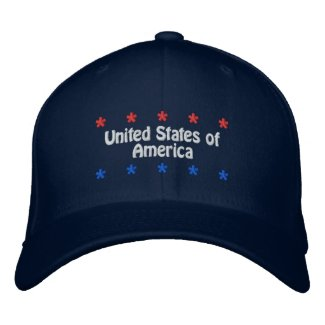 United States of America embroideredhat