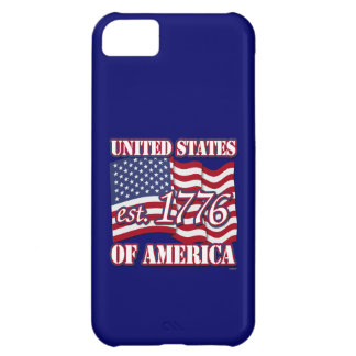 United States Of America est 1776 with USA Flag Case For iPhone 5C