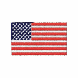 United States of America flag embroidered shirt