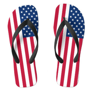 United States of America Flag Flip Flops
