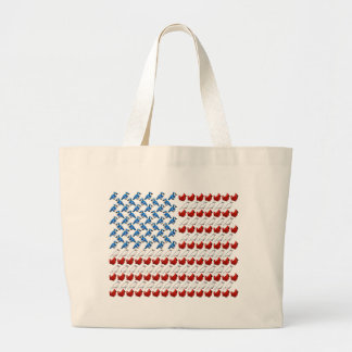 United States of America Flag made of Birds Large Tote Bag