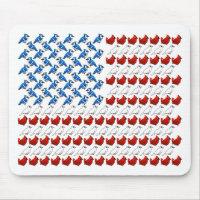 U.S. Flag of Birds Mousepad