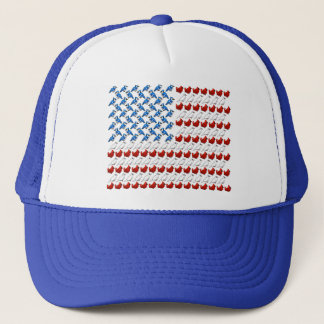 United States of America Flag made of Birds Trucker Hat