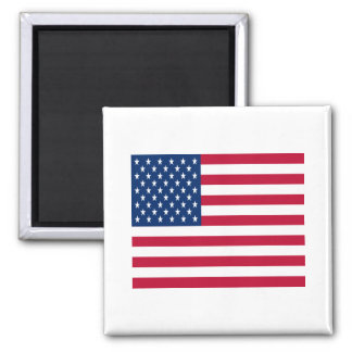 United States of America Flag 2 Inch Square Magnet