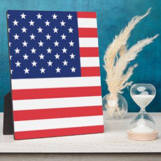 United States Of America Flag Plaque
