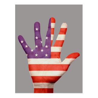 United States of America flag postcard