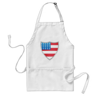 United States of America Flag Shield Adult Apron