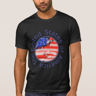 united states of america . flag tee shirt