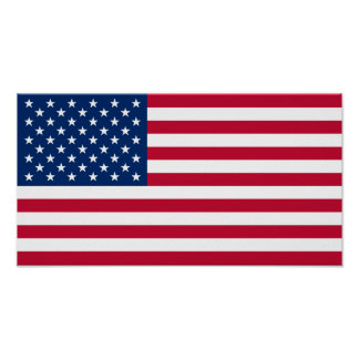 United States of America Flag USA US Flagge Poster