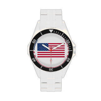 United States of America Flag Watch (Stainless)