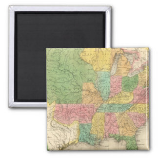 United States of America History Map Magnet