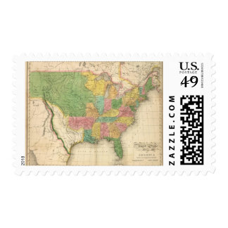 United States of America History Map Postage