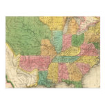 United States of America History Map Postcard