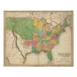 United States of America History Map Poster