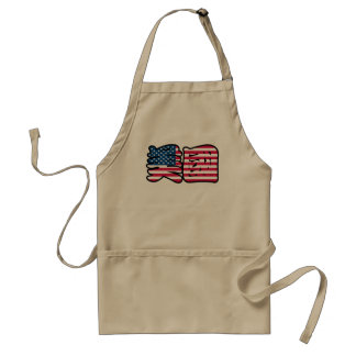 United States of America in Chinese Apron