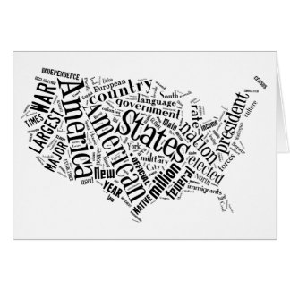 United States of America in Tagxedo Card