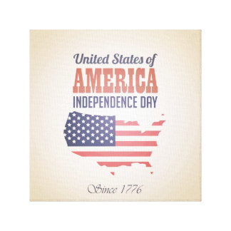 United States of America Independence Day Canvas Print