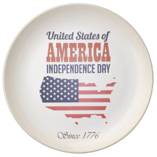 United States of America Independence Day Dinner Plate