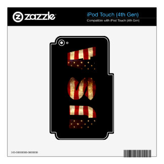 United States of America iPod Touch 4G Decals