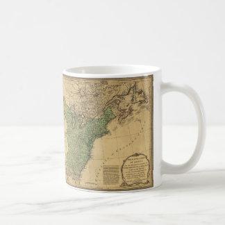 United States of America Map (1783) Mugs