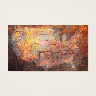 United States of America Map Business Card
