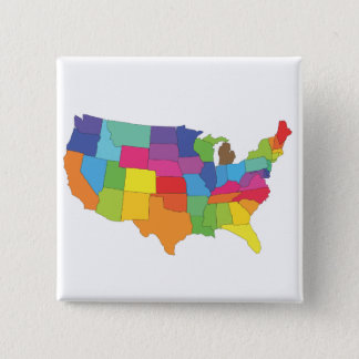 united states of america map button
